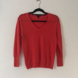 J crew red pullover vneck sweater